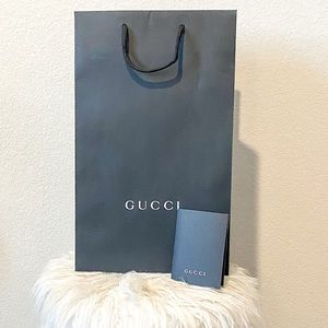 Authentic Gucci Shopping Bag and Card